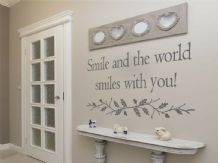 "Wall Quote ""Smile and the world smiles with you"" Sticker Decal Decor Transfer"